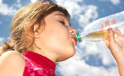 UW Health Voice and Swallowing pediatric services: Young girl drinking water