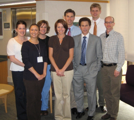 Dr. Larry Lipschultz (third from right) with some of the Generations physicians and staff.