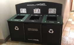 Multi-use Recycling bins at UW Health