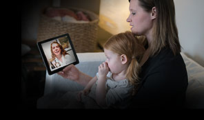 family having a UW Health Care Anywhere video visit