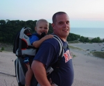 Jason Gorska and Son Climb the Dunes