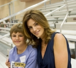 Cindy Crawford and friend; Cindy Crawford was the honorary chair at the Kids With Courage IV reunion for childhood cancer patients of UW Health's Pediatric Hematology and Oncology Division