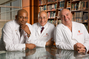 Niloo Edwards, MD, Tony D'Allesandro, MD, and Hans Sollinger, MD of the UW Health transplant team