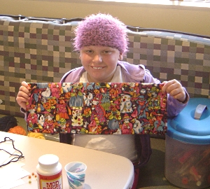 ConKerr Cancer pillowcase delivery at American Family Children's Hospital