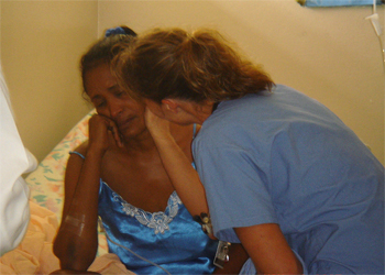 Consoling the woman whose surgery we had to cancel