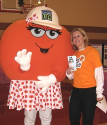 Dottie Donor Dot at the Sparta Women's Health Fair