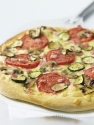 Fresh veggie pizza with canadian bacon; Go Red for Women Heart Healthy Recipes
