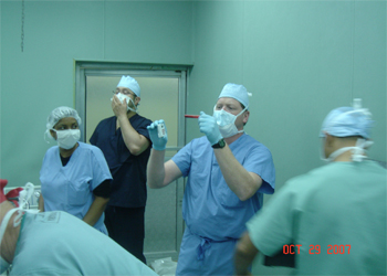 In the operating room