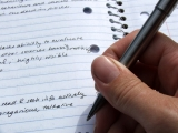 Writing in a notebook; UW Health psychologists offer suggestions for helping kids with homework anxiety