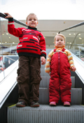 kids on escalator; A Neat Way to Think About Fitness