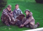 Dan and his kids after a turkey hunt