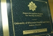 UW Hospital and Clinics Magnet Nursing recognition plaque
