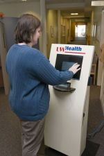 patient check-in kiosk at UW Health West Clinic