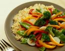 plate of rice and vegetables