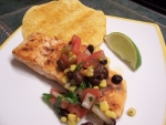 Sassy Salmon with Black Bean Salsa; Advances Donna's Recipes
