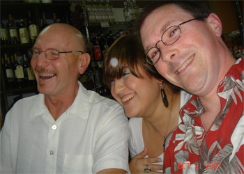 Jake, Ivonne and Jody at dinner, after a long day at the hospital