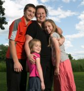 Celebrating Our Working Parents: Lisa Wannebo, BSN, RN, nurse clinician, along with her children, Brett 14, Bree 10, Brynne 6