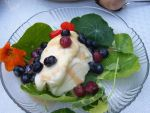 Cherry blueberry sauce, a delicious dessert from Advances e-Newsletter, UW Carbone Cancer Center