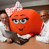 UW Health physicians Anthony D'Alessandro and Niloo Edwards with Dottie Donor Dot