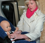 Jessica Arp of Ch. 3 (WISC) won the third annual Kohl's Child Safety Seat Challenge at American Family Children's Hospital.
