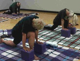 Pariticipants in a Hatha Yoga class at UW Health Sports Medicine Fitness Center