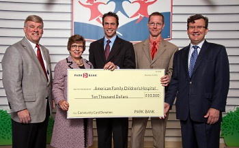 Park Bank makes a donation to American Family Children's Hospital