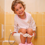 Toddler on potty