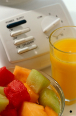 Watermelon, cantaloupe and orange juice are potassium-rich foods.