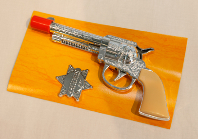 "This toy gun has levels of antimony above the legal limit, according to the ""Trouble in Toyland"" report."