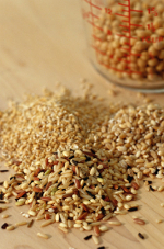 Whole grains contain fiber, antioxidants and phystoestrogens.