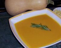 Butternut Squash Soup; Donna's Recipe of the Month