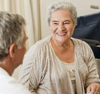 UW Health Geriatric consultations: woman talking to physician