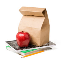 UW Health Pediatric Fitness Clinic: Lunch bag and apple