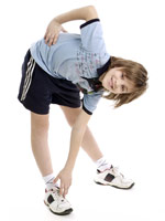 UW Health Pediatric Fitness: Boy stretching