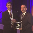 Dr. Lucarelli was recognized at the annual meeting of the American Society of Ophthalmic Plastic and Reconstructive Surgery by ASOPRS President Dr. Donald Kikkawa.