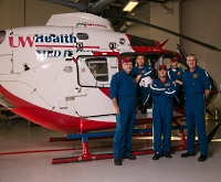 Every UW Med Flight assignment includes a UW Health physician on board.