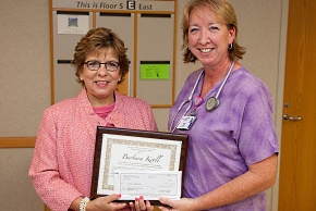 UW Health nursing: Community service award winner Barbara Kroll with Donna Katen-Bahensky