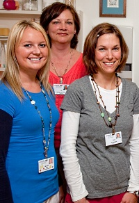 "Laura (at right) says, ""I love working here because employees are treated well. When employees are happy in the workplace, patients notice and ultimately receive better care."""