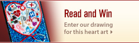 Read our UW Health nursing stories and enter for a chance to win heart art