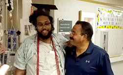 UW Health patient Dity Vishwanathan and his father