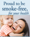 Proud to be smoke-free, for your health; UW Hospital and Clinics, UW Health Clinics and American Family Children's Hospital