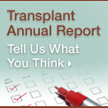 Transplant Annual Report survey