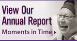 Moments in Time is the 2007-2008 Cancer Center Annual Report