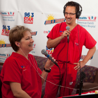 Tammy Lee and John Flint during the 2010 Radiothon at American Family Children's Hospital