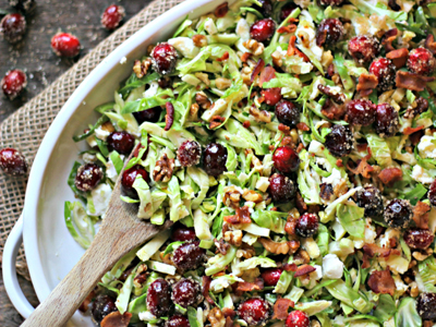 Brussels Sprouts Salad with Cranberries