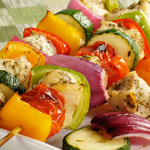 Chicken Kabobs; Main Dish recipes from UW Health