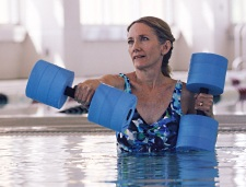 The Aquatic Center's warm water pool provides a fun and safe environment for low impact exercise with reduced strain on joints.
