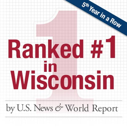 University Hospital Ranks in Top 50 Hospitals in 9 Specialties, No. 1 in Wisconsin