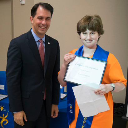 Governor Walker Helps Celebrate Latest Project SEARCH Graduates