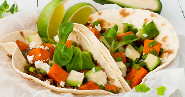 Sweet Potato Avocado Tacos; recipe for healthier skin; UW Health Transformations Jeune Skin Care; Madison, Wisconsin